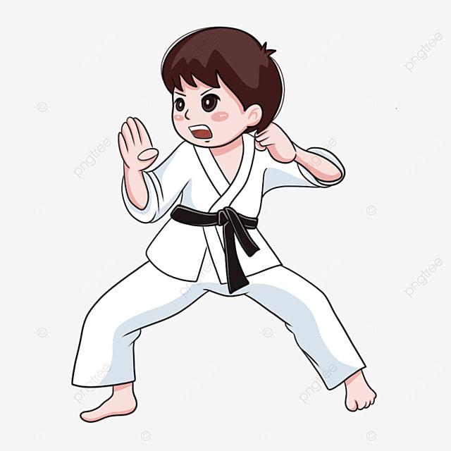 karate player cute boy