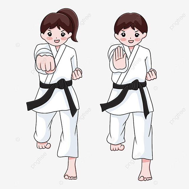 karate two judo athletes