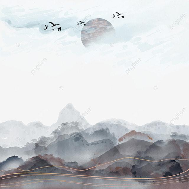 south korea jinxian ink hills and mountains landscape