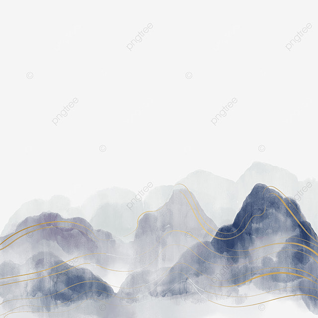 south koreas golden line ink and blue sea of clouds landscape scenery