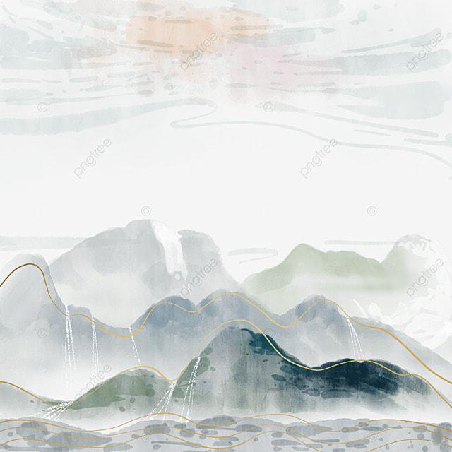south koreas golden thread ink color cloud outdoor landscape scenery