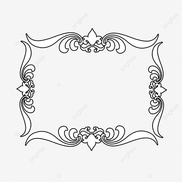 border decoration black and white line draft irregular graphics