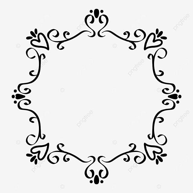 border decoration black and white line draft pattern surrounding