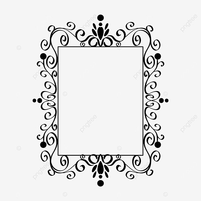 border decoration black and white linear draft classical pattern rectangle