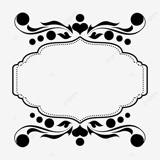 border decoration black and white linear draft polygon pattern