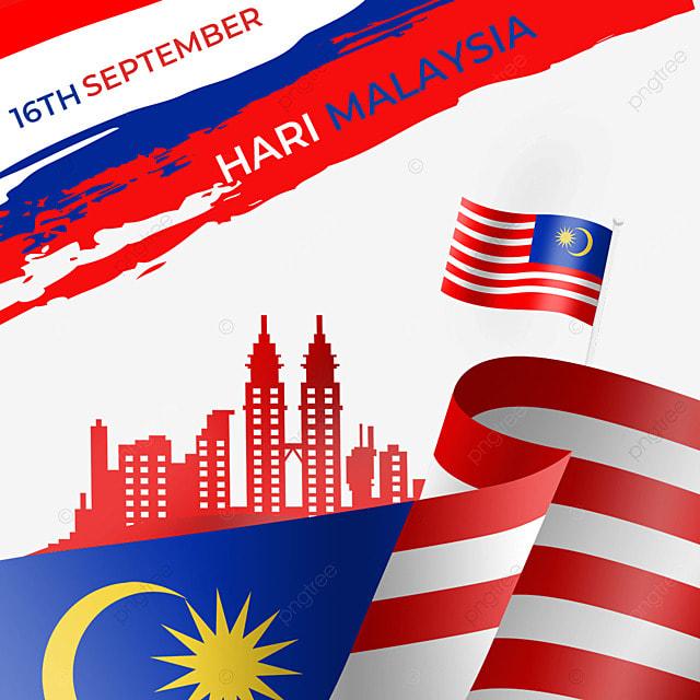 malaysia day brushed flag