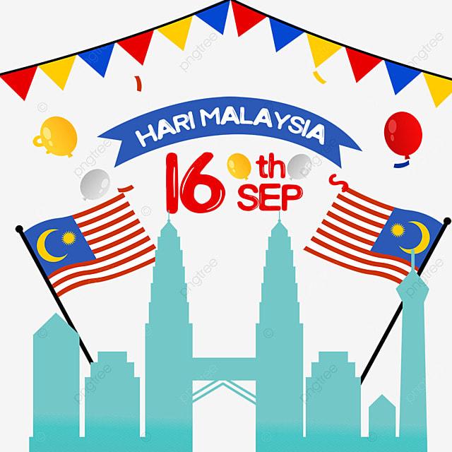 malaysia day cartoon illustration