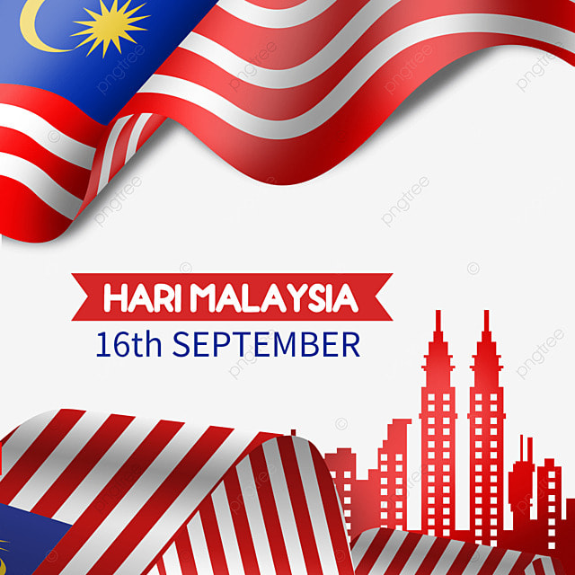 malaysia day flag and architecture illustration