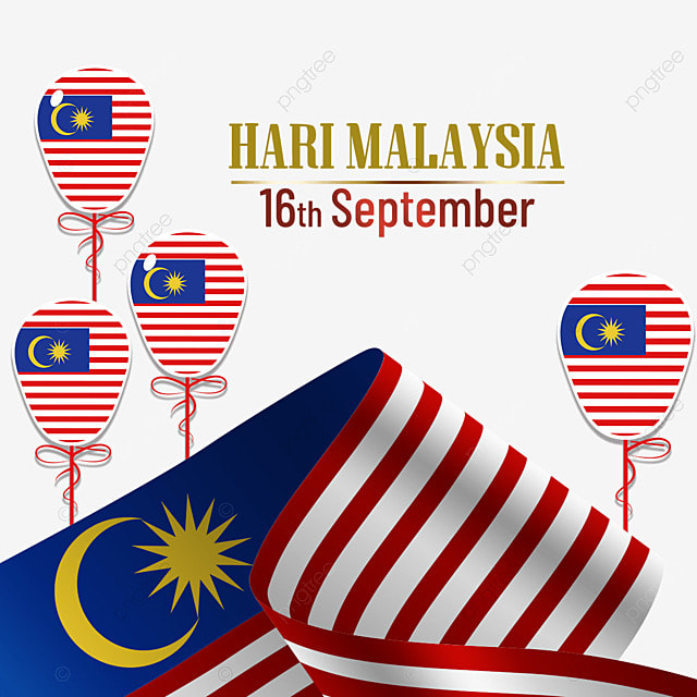 malaysia day flag balloons