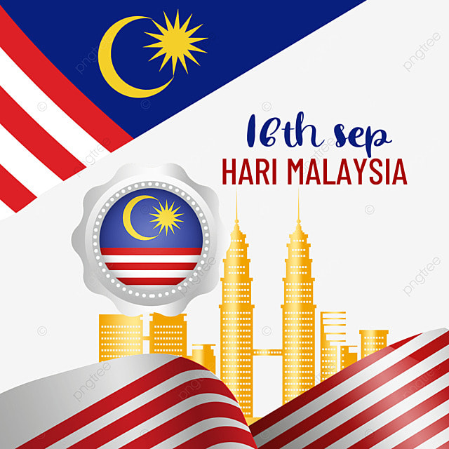 malaysia day golden architecture flag
