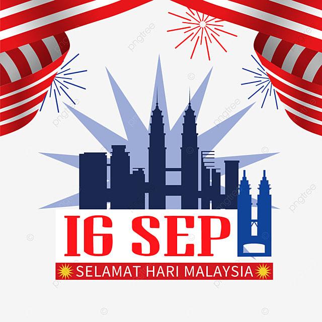malaysia day landmark building illustration