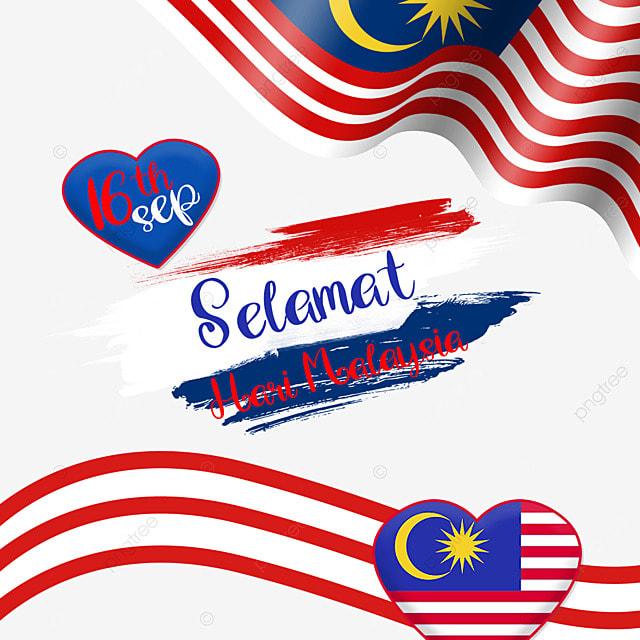 malaysia day love striped flag