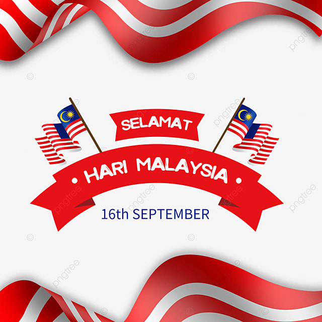 malaysia day red ribbon flag