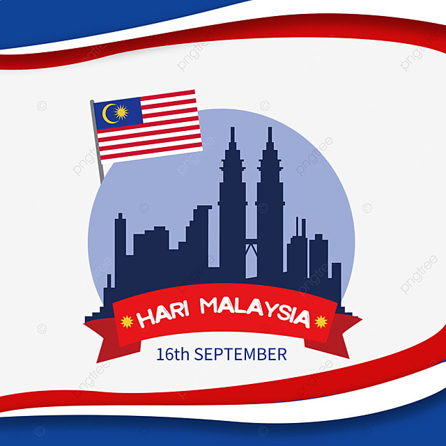 malaysia day sign building illustration