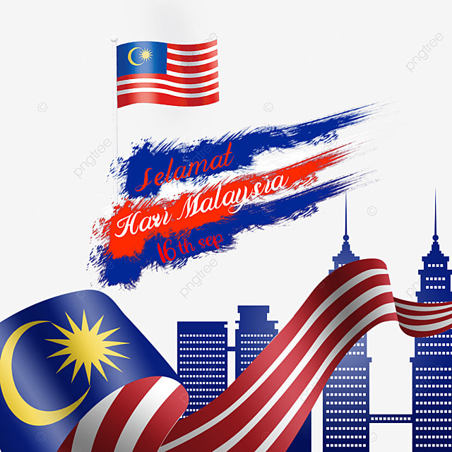 malaysia day solemn brushed flag