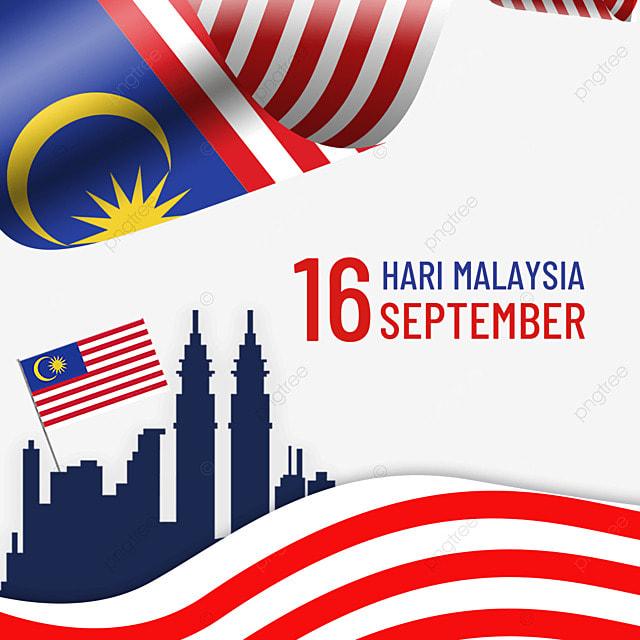 malaysia day waving flag illustration