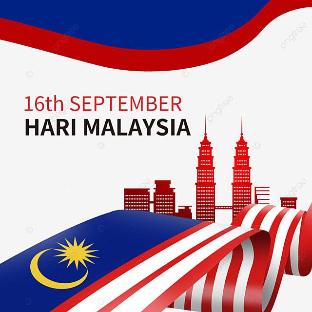 malaysia day wavy flag building