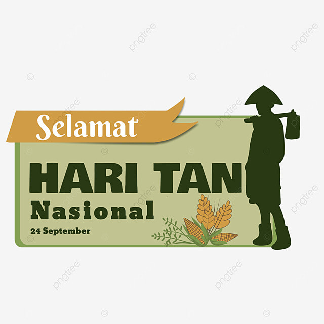 indonesian national farmers day with wheat and corn