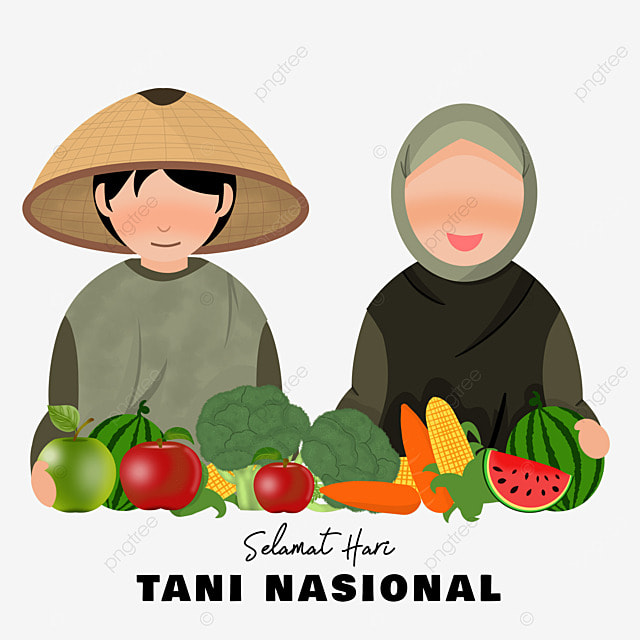 indonesian national farmers day with fresh fruits