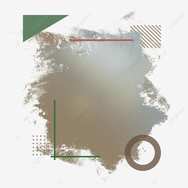 border brush garbage abstract brown