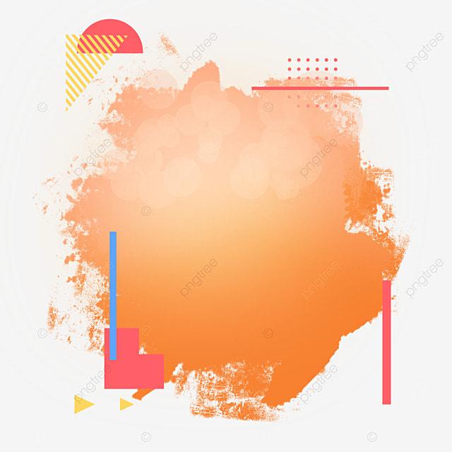 border brush halftone lighting abstract gradient orange