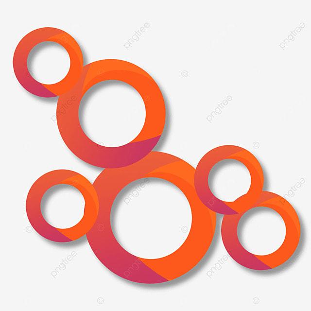 border circle abstract gradient orange