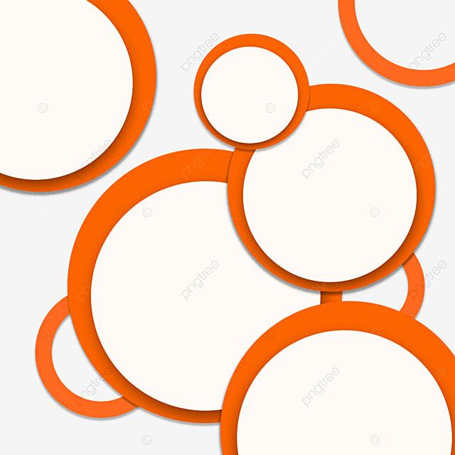 border circle geometric overlay creative orange