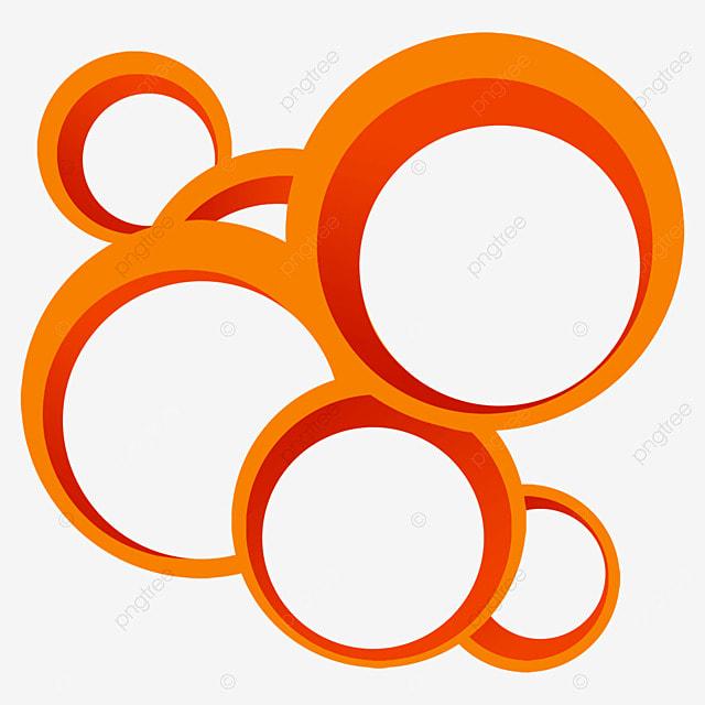 border circle overlay abstract orange