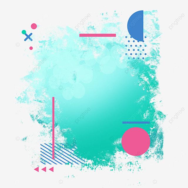 border halftone brush light effect gradient art