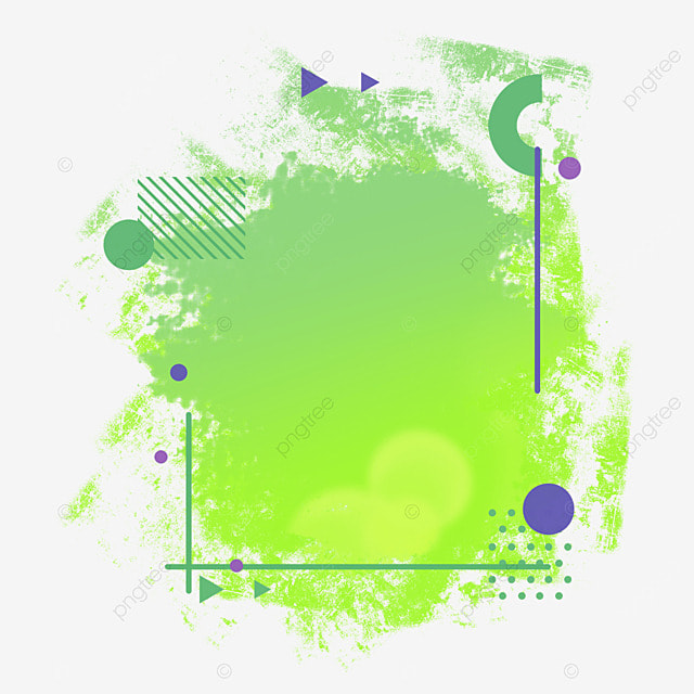 border halftone brush lighting abstract gradient green