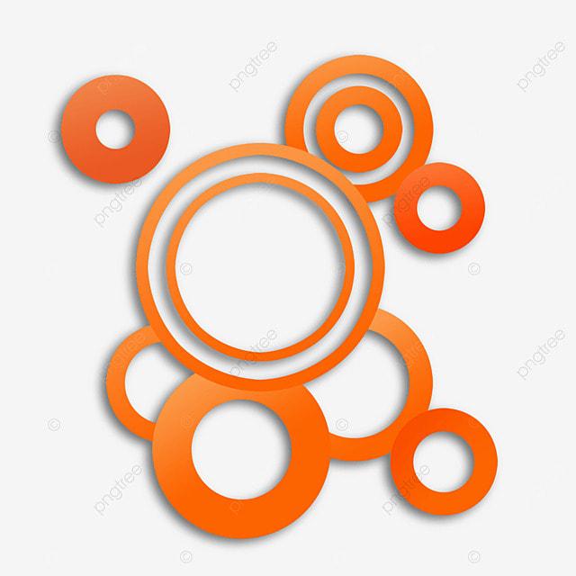 border ring abstract gradient orange