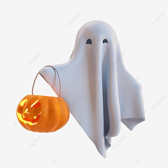 halloween ghosts and pumpkin lanterns