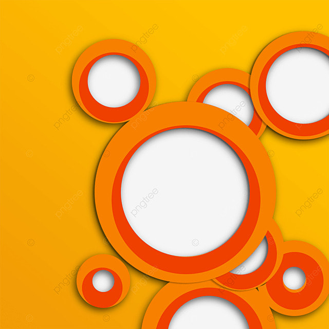 text box circle creative gradient orange