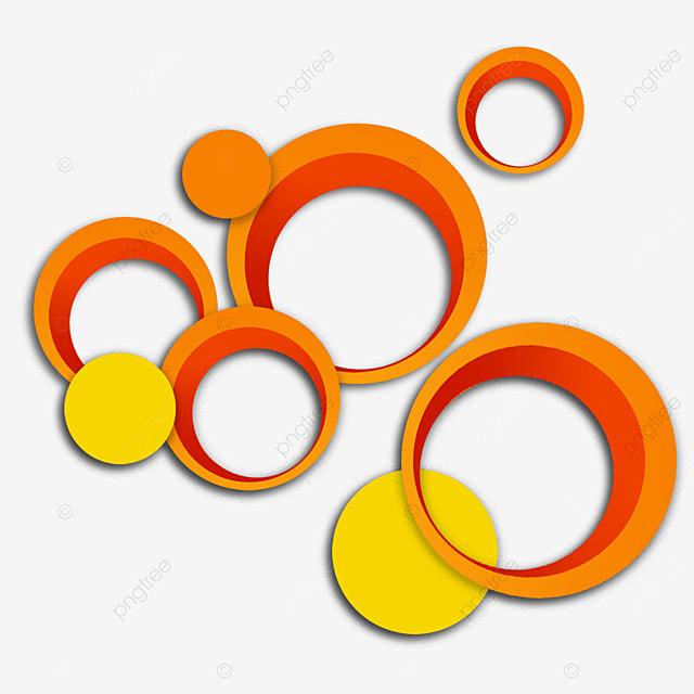 text box circle overlay creative orange