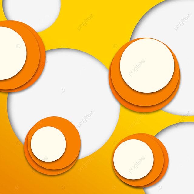 text box circular creative gradient orange