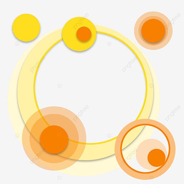 text box ring aperture creative gradient orange