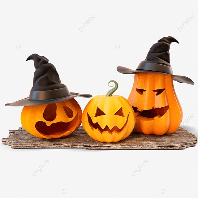 three dimensional halloween pumpkin