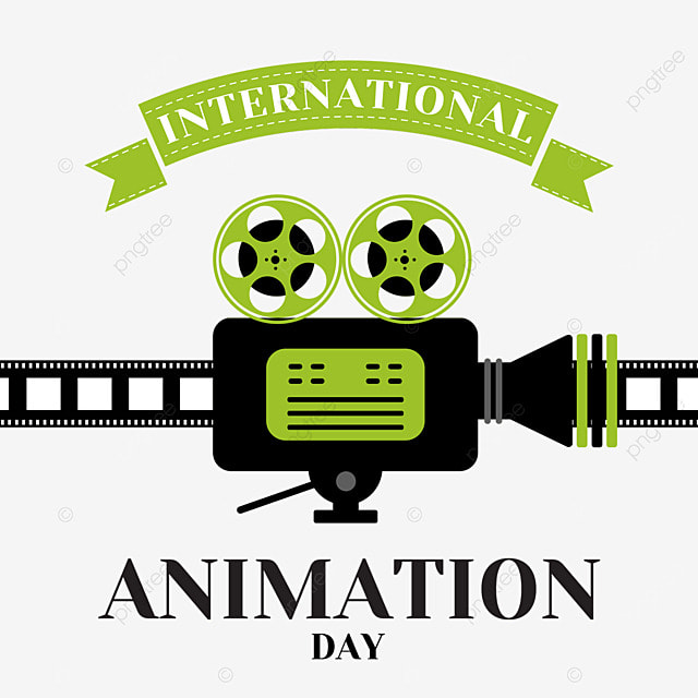 world animation day film shooting screening and animation playing