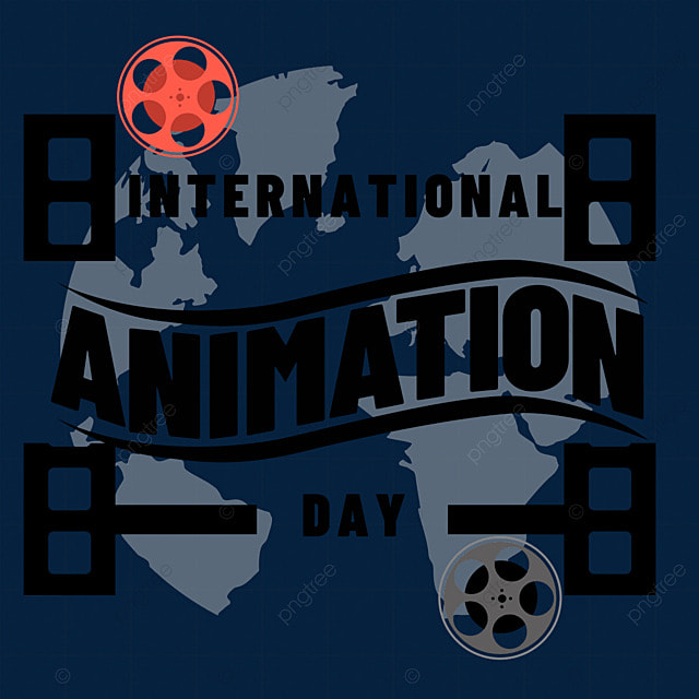 world animation day shooting and playing festival photography map