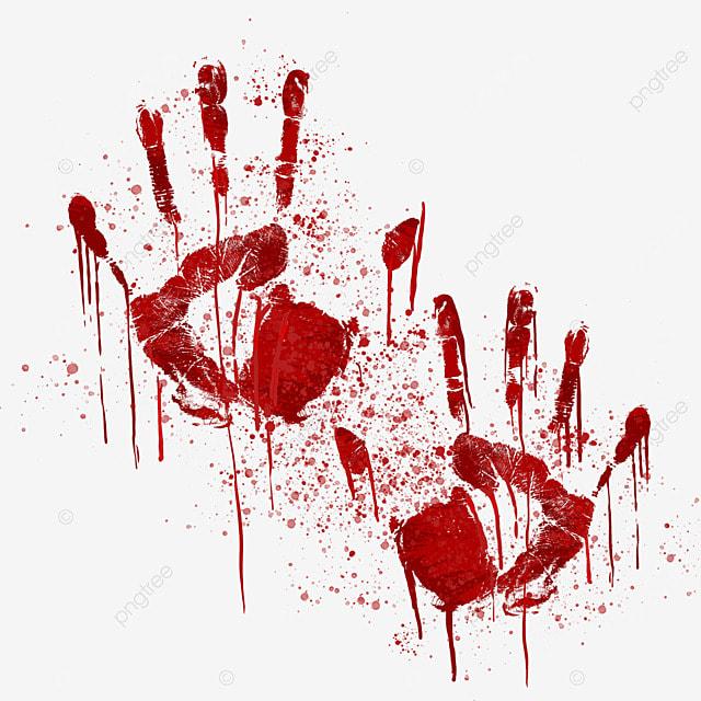 blood palm halloween horror pattern