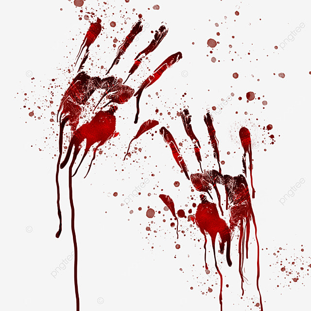 blood palm horror halloween graffiti