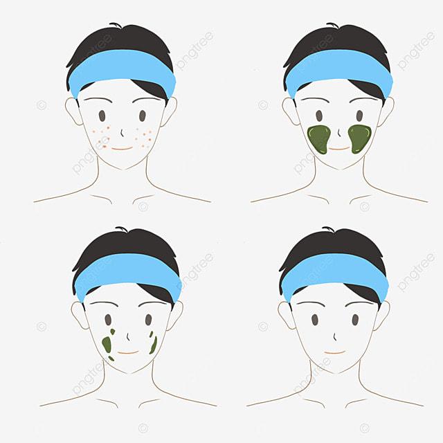 boy cartoon character skin care