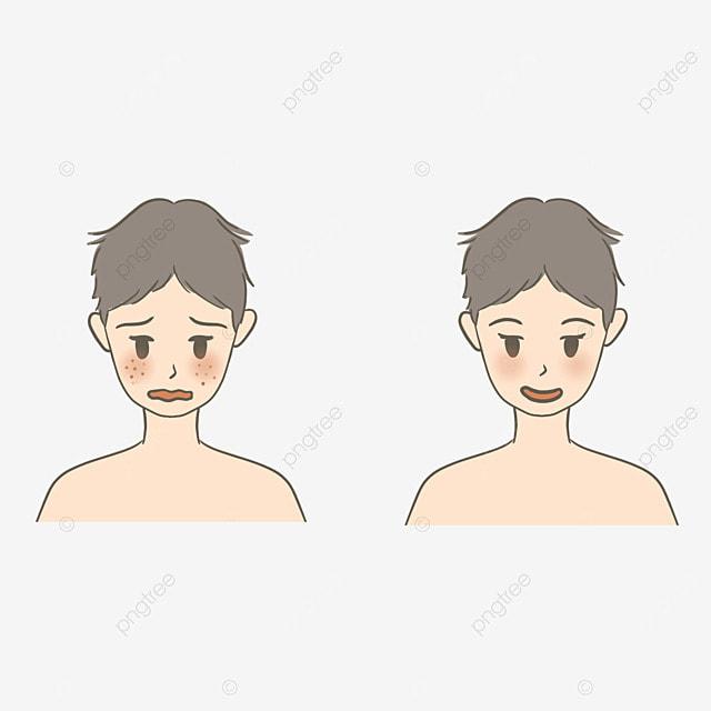boy cartoon cute facial care