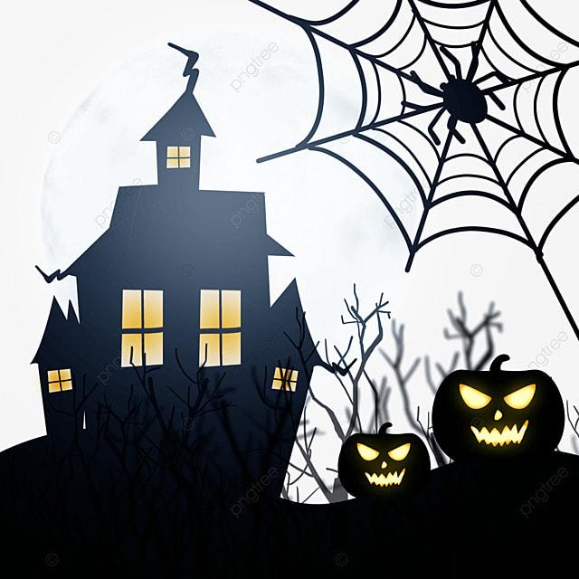 halloween black cobweb horror haunted house