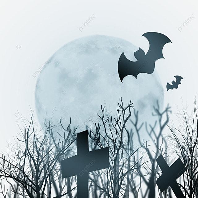 halloween bright moonlight bat background