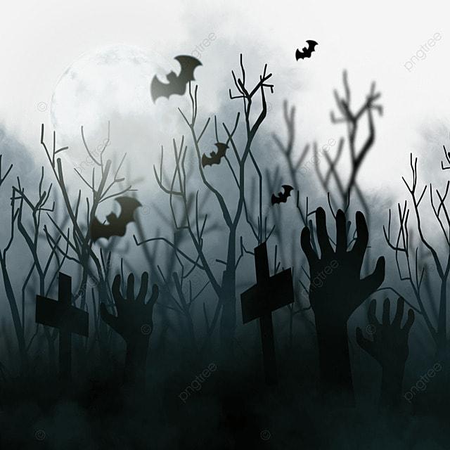 halloween horror dead branch black bat