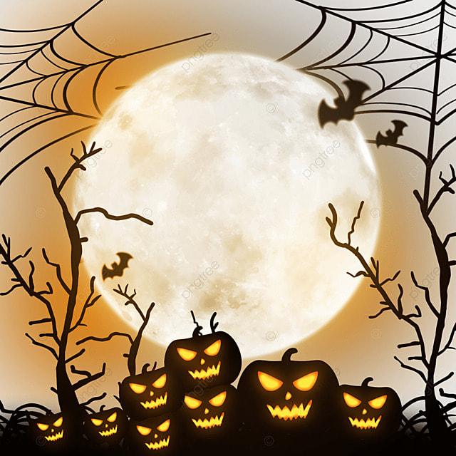 halloween horror moonlight night decoration
