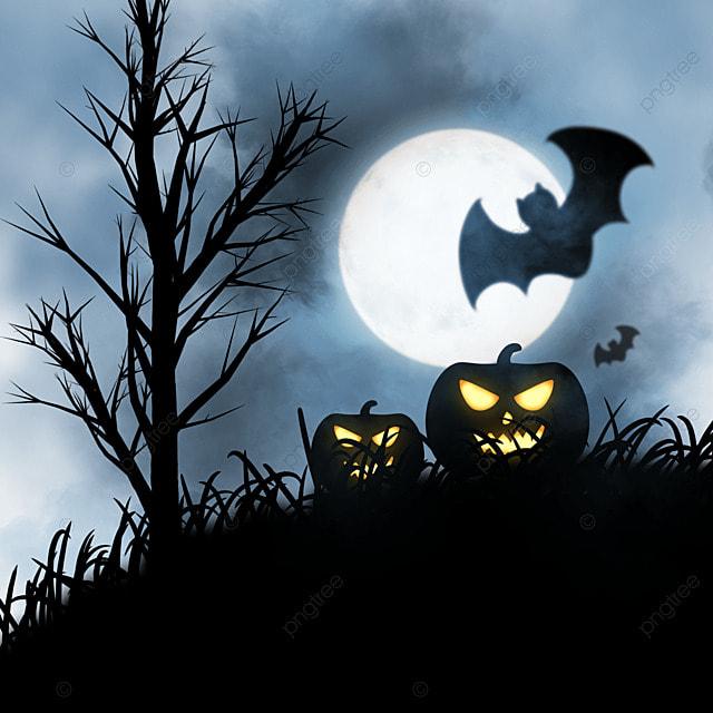 halloween horror night black bat