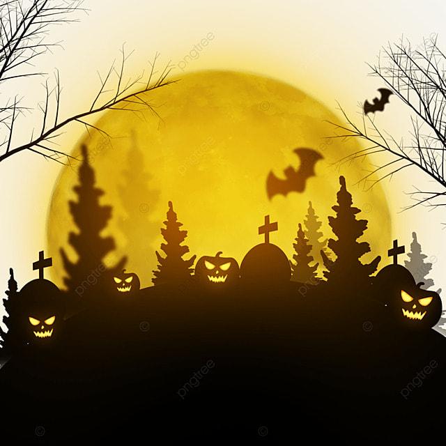 halloween orange moonlight horror night