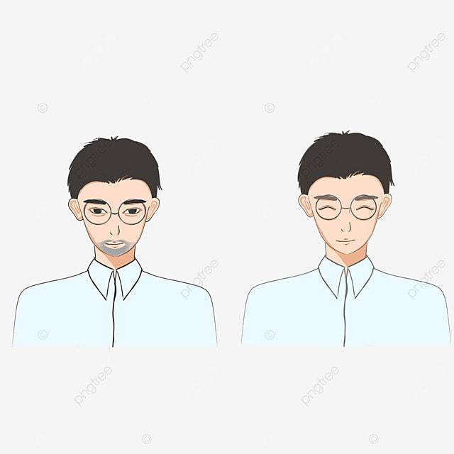 mens cartoon facial beard cleaning